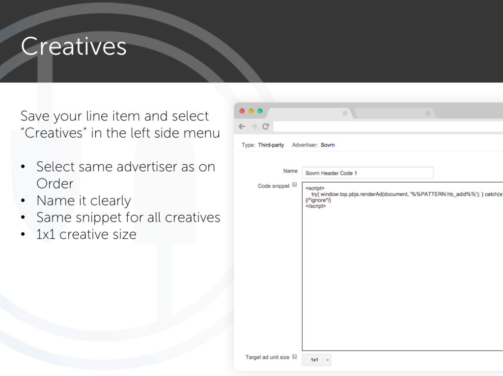 Header bidding - Creatives