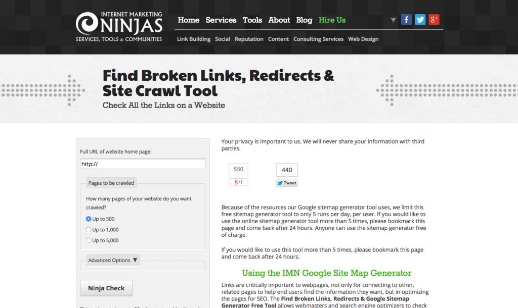internet marketing ninjas tool